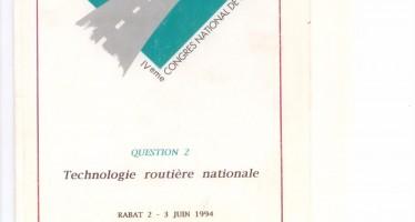 Le 4ème Congrès National de la Route